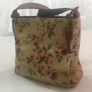 Fossil vintage floral canvas shoulder bag